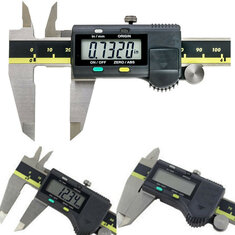 150mm 6 Inch Stainless Steel Electronic Digital Vernier Caliper Micrometer With Box
