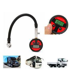 0-200PSI Metal Digital Tire LCD Manometer Air Pressure Gauge PSI BAR KPA