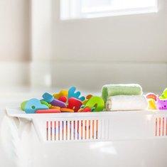 Honana BX-592 Adjustable Kids Bathtub Shower Toy Organizer Basket Retractable Storage Holder