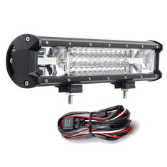 16Inch 216W 7D LED Work Light Bars Flood Spot Combo 10-30V with Wiring Harness Kit for Jeep Off Road Truck