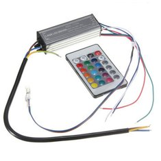 30W RGB LED Chip Light Lamp Driver Power Supply Waterproof IP66 With Remote Control