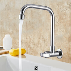 360 Degree Rotation Single Cold Faucet Brass Kitchen Sink Faucet