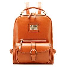 PU Leather Vintage Women Backpack Student School Bags Travel Rucksack