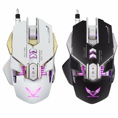 X300 7 Buttons 3200DPI LED Variable Light Mechanical Macros Define Gaming Mouse