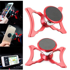 Metal Magnetic 360 Degree Rotation Car Air Vent Phone Holder Stand for Xiaomi Mobile Phone
