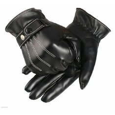 Winter Sports Riding Skiing Touch Screen Leather Warm Gloves
