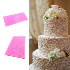 Lace Silicone Cake Mold Fondant Print Mould Decorating Tool