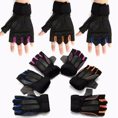 XL Size Lifting Fitness Outdoor Sports Working Half Finger Gloves Motorcycle Bicycle Cycling
