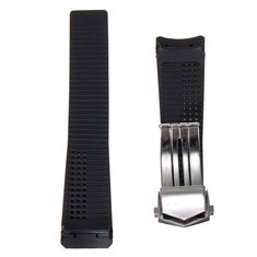 20/22mm Black Rubber Band Strap For TagHeuer CV2014