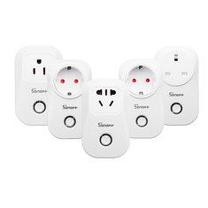 SONOFF® S20 10A 2200W WIFI Wireless Remote Control Socket Smart Timer Plug Smart Home Power Socket EU US UK AU Standard Via App Phone Support Alexa