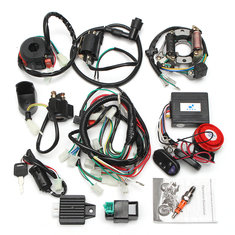 Alarm System CDI Wiring Harness Remote Start Switch High Security For Electric