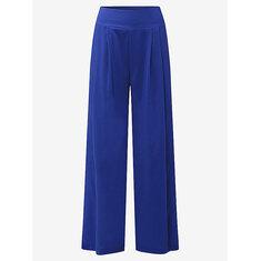 Elegant Office Lady High Waist Chiffon Women Wide Leg Pants