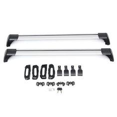 1 Pair 110cm -120cm Universal Roof Rack Cross Bars Anti-theft Lock For Honda Nissan Ford Toyota