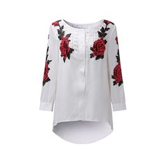 Women Embroidery Patchwork Blouse