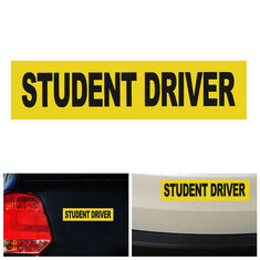 Student Driver Car Stickers Magnet Reflective Decal Safety Caution Warning Sign
