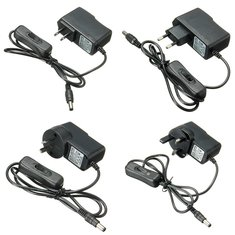 AC 100-240V To DC 12V 1A Power Supply Adapter Switch For Light LED Strip