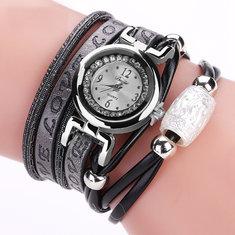 DUOYA DY102 Luxury Fashion Woman Watch Electronic Quartz Leather Bracelet Watch