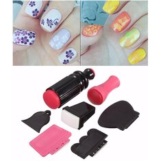 7Pcs/set Nail Art Scraper Stamping Plate Double Ended Stamper Image Tool Kit