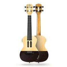 Xiaomi Populele U1 23 дюймов 4-х струнная умная гавайская гитара с контролируемым приложением Светодиодный Bluetooth Connect