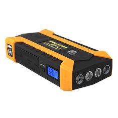 16000mAh LED Car Jump Start Starter 4 USB Charger Battery Power Bank Booster 12V