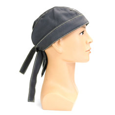 Grey Welding Flame Retardant Hat Cap Scarf Helmet Head Protection Universal