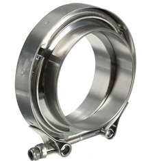3 Inch Exhaust V-Band Clamps with Flange Down Pipe Intercooler Stainless Universal