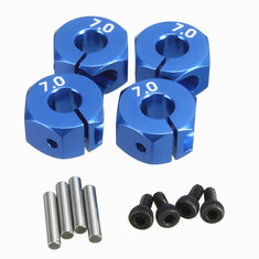 RC Aluminum 7.0 Wheel Hex 12mm Drive 4P HSP HPI Tamiya Car