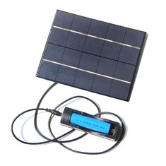 3.5W 5V 130*165mm Solar Panel Charge With 18650 Battery Case