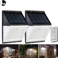 88 LED Solar Power Motion Sensor Light Voice Remote Control Garden Security Outdoor Yard Wall Lamp
