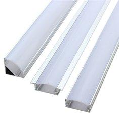 LUSTREON 50CM Алюминиевый держатель канала для светодиодной полосы света под лампой шкафа