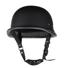 Motorcycle German Style Half Face Helmet Motocross Matte Black M/L/XL