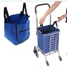 Supermarket Trolley Shopping Organizer Tote Eco Grocery Extend Cart Clips Reusable Foldable Handbag