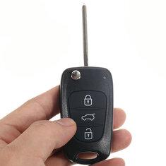 Remote Folding Key Shell Case Uncut Blade 3 Buttons for Hyundai I20 I30 IX35 I35