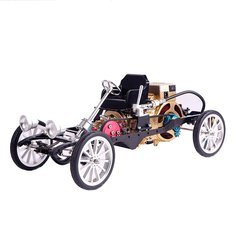 Teching Car Model Single Cylinder Engine Aluminum Alloy Model Gift Collection Toys
