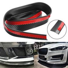 2.5M Carbon Fiber Color Car Front Bumper Spoiler Lip Splitter Protector Auto Trim Sticker Universal