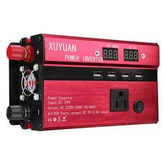 Đỉnh 3000W 4 loại DC 12 V / 24 V đến AC 110 V / 220 V Biến đổi năng lượng mặt trời Biến tần LED biến đổi sóng hình sin