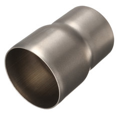 60mm to 51mm Motorcycle Mild Steel Exhaust Muffler Adapter Reducer Connector Pipe Tube