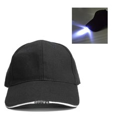 Adjustable Bicycle 5 LED Light Cap Battery Powered Hat Outdoor Baseball Cap