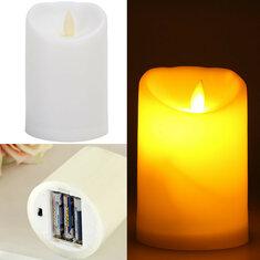 Romantic Electronic LED Flameless Flickering Simulation Candle Night Light 11.5*7.5cm