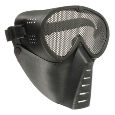 Airsoft Games Full Face Mask Nose Eyes Protector Safety Mesh Guard