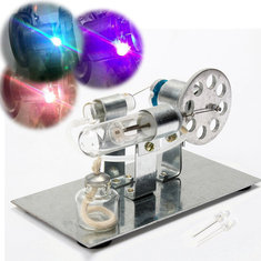 Mini Hot Air Stirling Engine Model Miniature Steam Gas Engine External Combustion Engine
