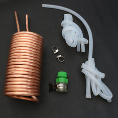 Copper Immersion Chiller Cooling Pipe with Silicone Tube for Home Brew Beer