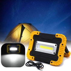 20led 10W 750LM COB LED Work Light USB Rechargeable Handle Flashlight Torch Outdoor Camping Lantern