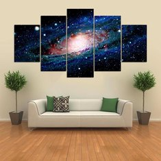 5  Cascade The Milky Way Wall Painting Picture Home Decoration Without Frame Including Installation