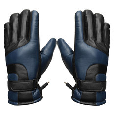 Motorcycle Electric Battery Heated Gloves Windproof Winter Heating Warmer Touch Screen