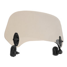 Universal Adjustable Clip On Brown Windshield Extension Spoiler Wind Big Windscreen Deflector For Motorcycle Scooter