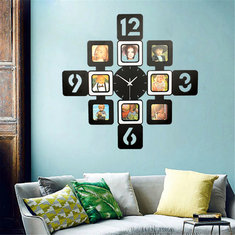 70x70cm Living Room Bedroom Wall Clock Photo Frame Time Modern Trendy Latest Silent Big Christmas Gift Marriage Anniversary Present