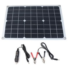 20W 18/5V 42*28cm DC Monocrystalline Solar Panel with DC5521 Battery Clip