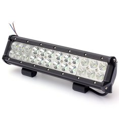 72W 5760LM LED Work Light Bar Spot Flood Beam Lamp For Jeep Off Road SUV Truck Boat