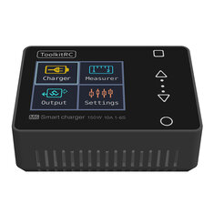 ToolkitRC M6 DC 150W 10A LCD 2-6S Lipo Battery Smart Balance Charger Discharger With Voltage Servo Checker Receiver Signal Tester Quick Charger Function